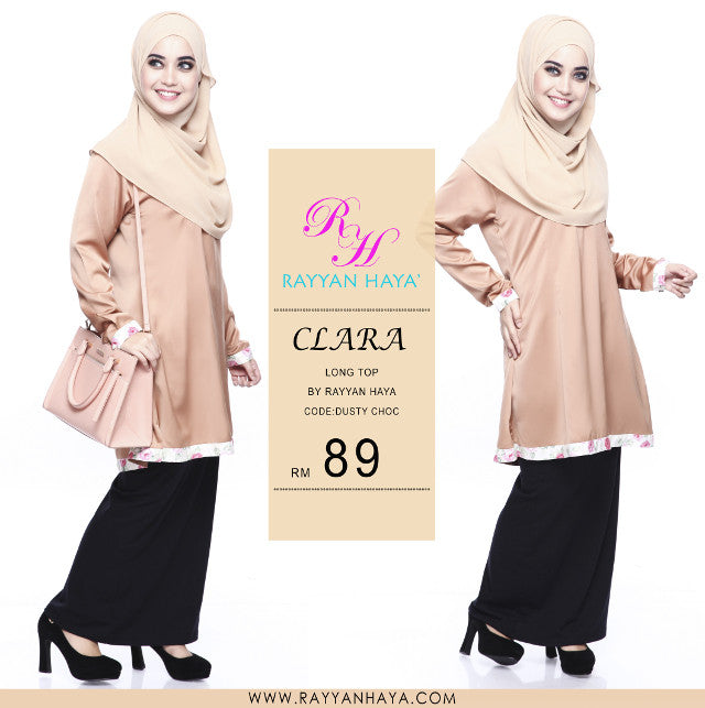 Clara Premium Blouse (Dusty Choc)
