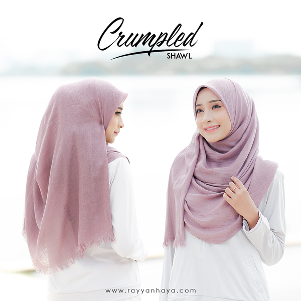 Crumpled Shawl (Dusty Purple)