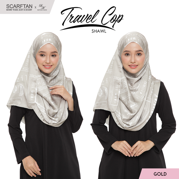 Travel Chop Shawl (Gold)