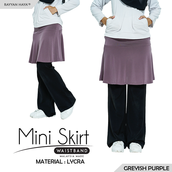 Mini Skirt (Greyish Purple)