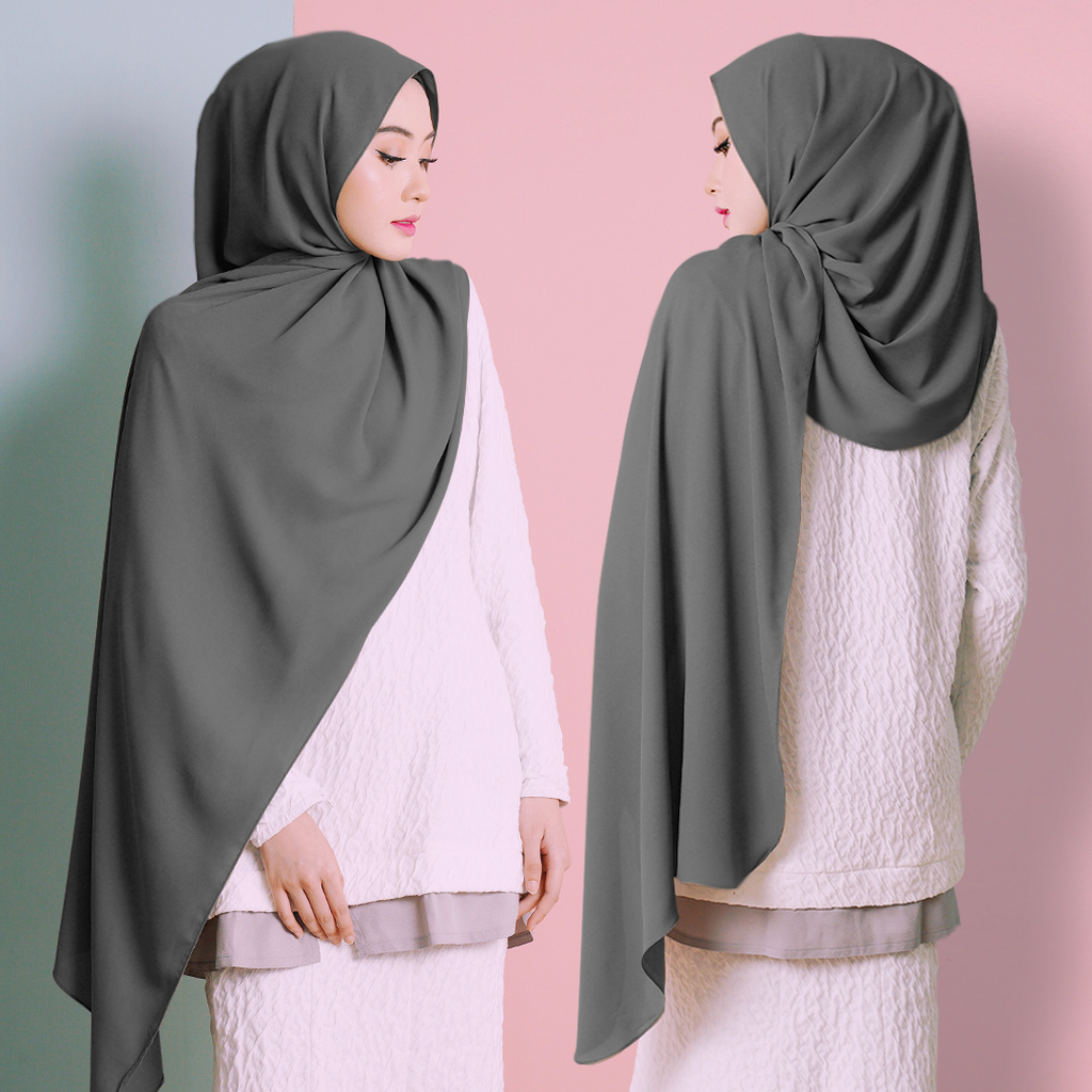 Plain Shawl (Smoke Grey)