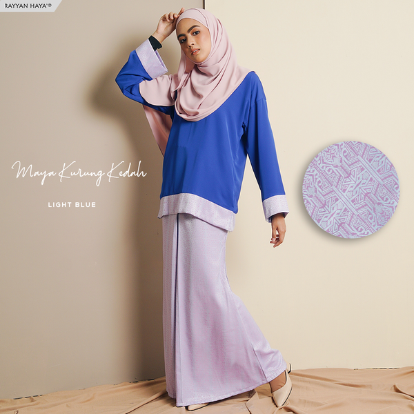Maya Kurung (Light Blue)