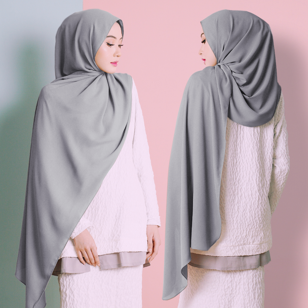 Plain Shawl (Cool Grey)