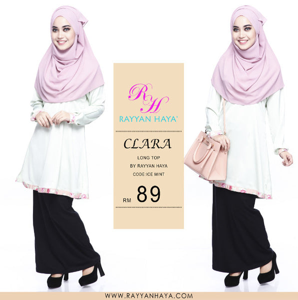 Clara Premium Blouse (Ice Mint)