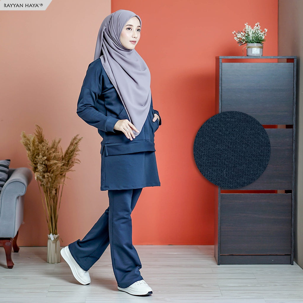 PRE ORDER Skirt Pants Set 7.0 (Dark Blue)