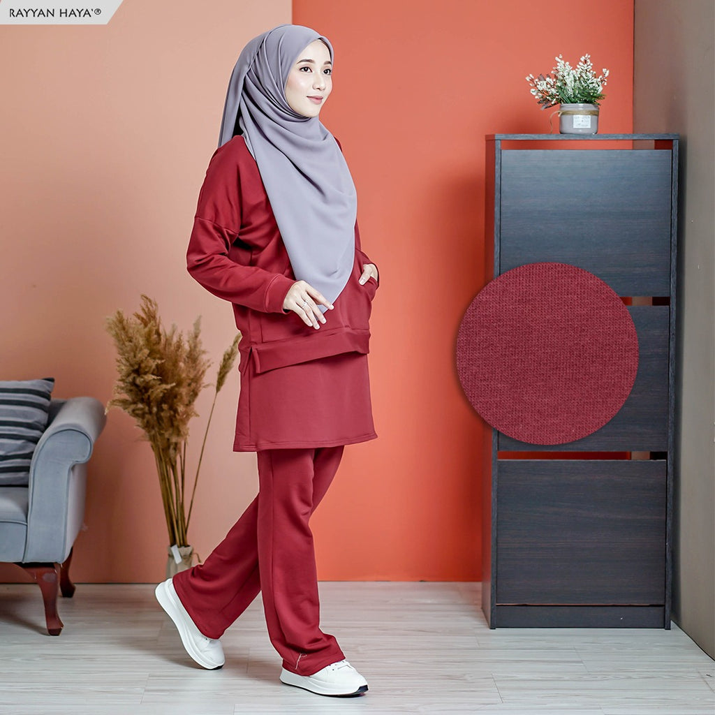 Skirt Pants Set 7.0 (Maroon)