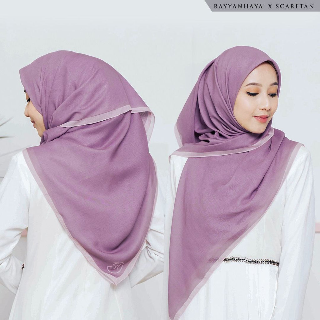 READY STOCK Bawal Border 130cm (Lavender)