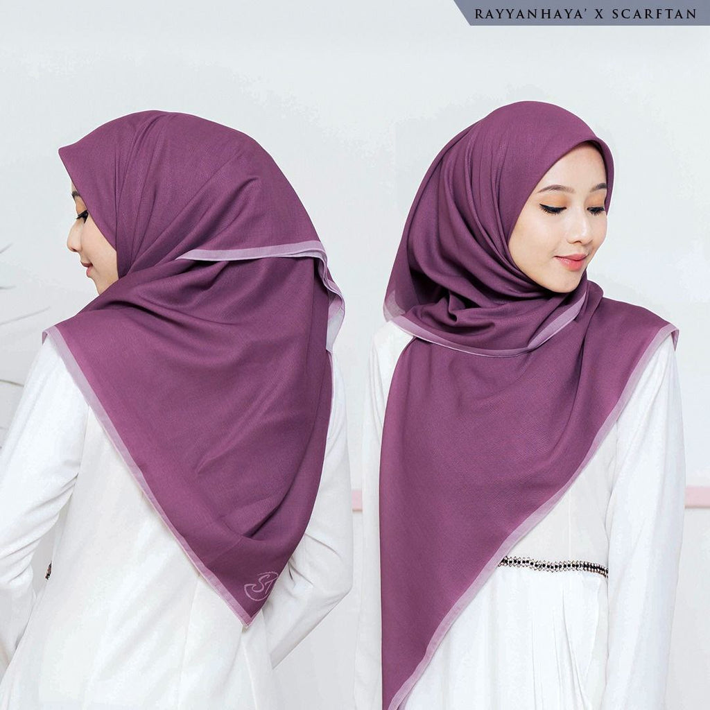 READY STOCK Bawal Border 130cm (Plum)