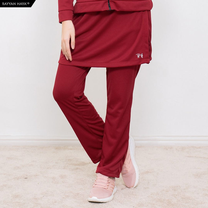 Skirt Pants Kool Fit (Maroon)