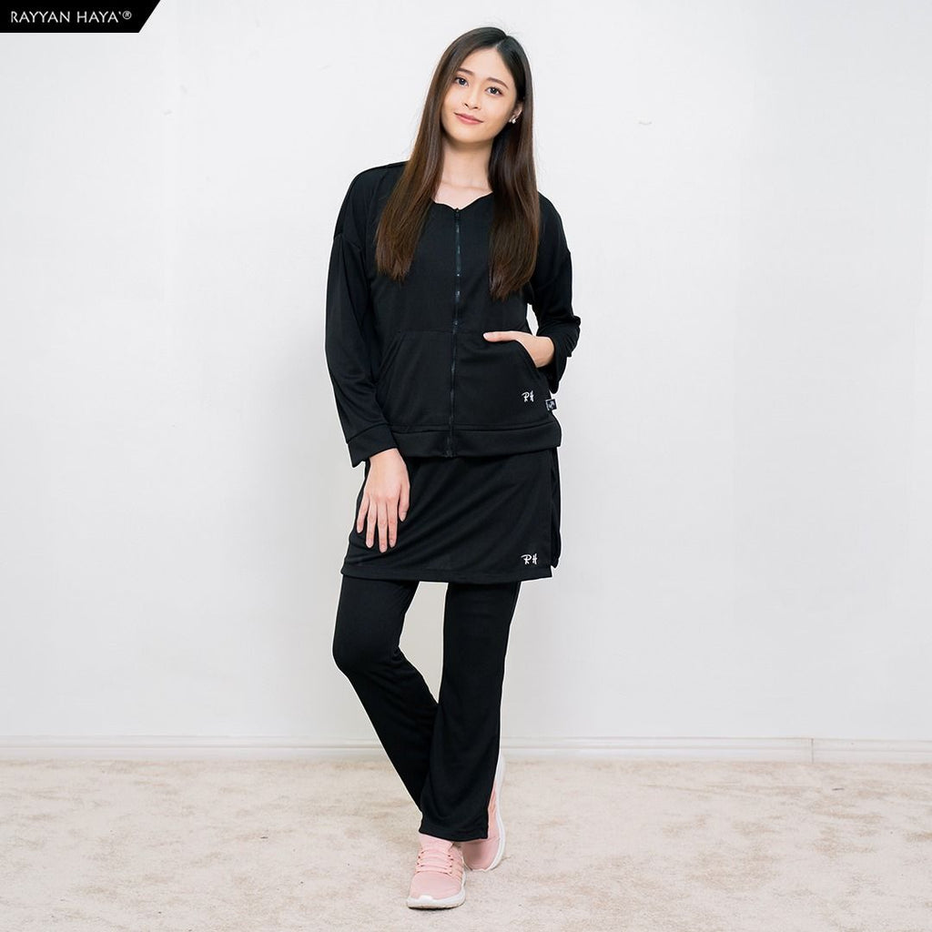 Skirt Pants Kool Fit Set (Black)