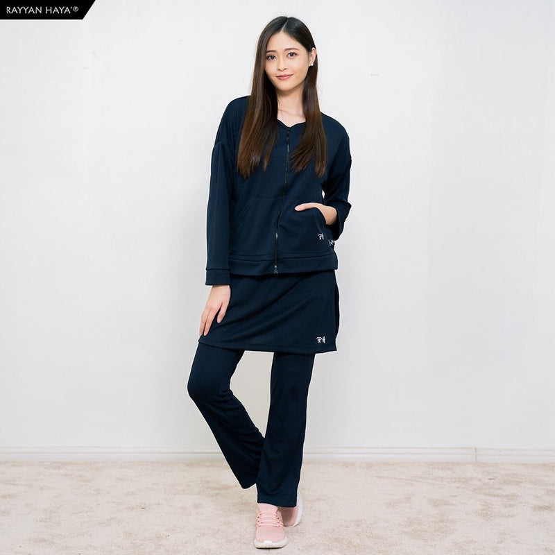 Skirt Pants Kool Fit Set (Navy Blue)