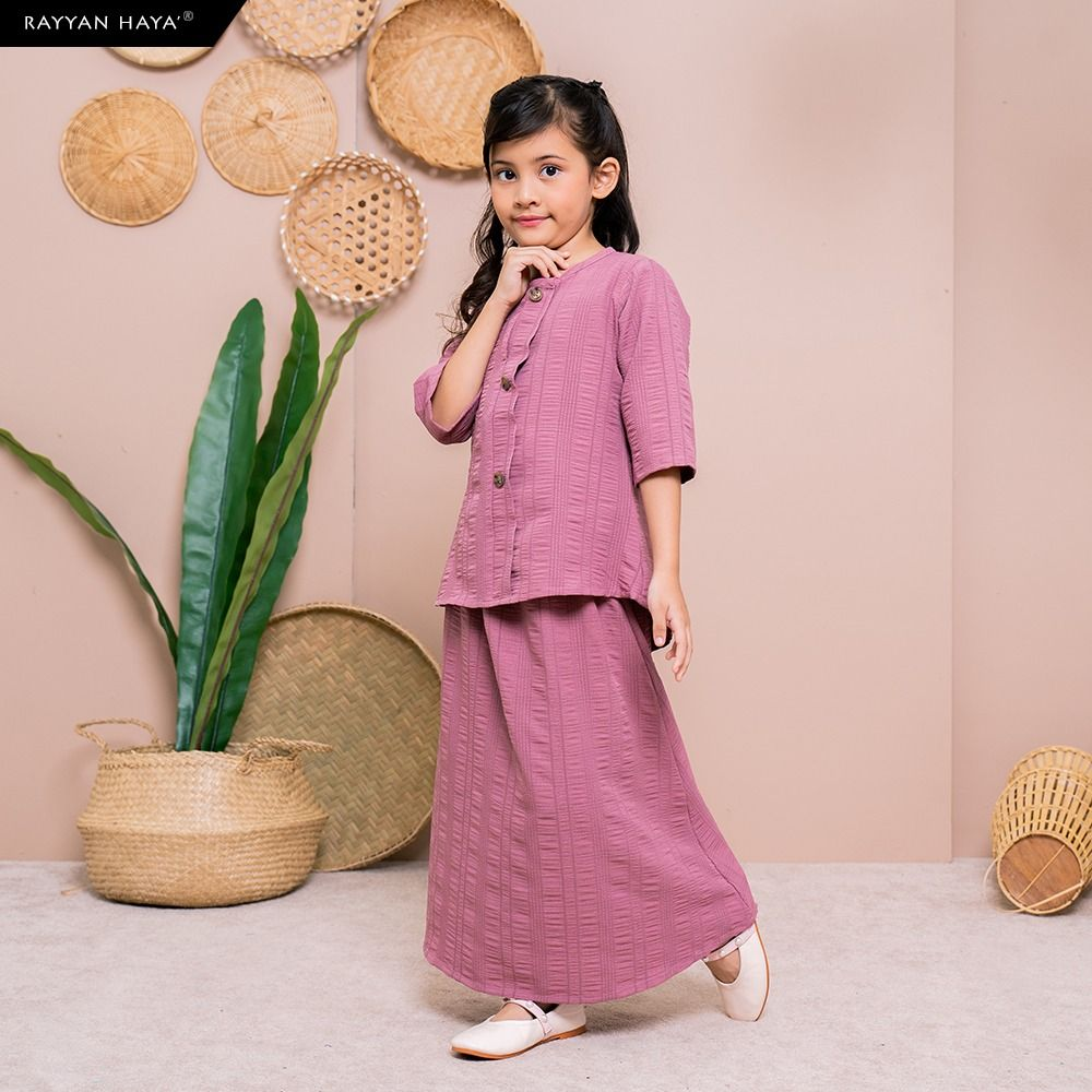 Seri Button Kids Set (Dusty Pink) BUY 2 FREE 1 GIFT & BUY 3 FREE 2 GIFTS