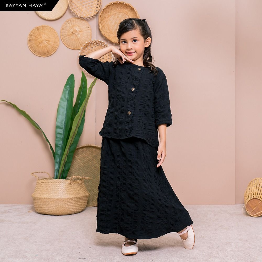 Seri Button Kids Set (Black) BUY 2 FREE 1 GIFT & BUY 3 FREE 2 GIFTS