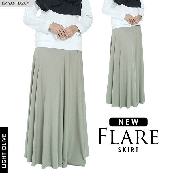 Flare Skirt (Light Olive)