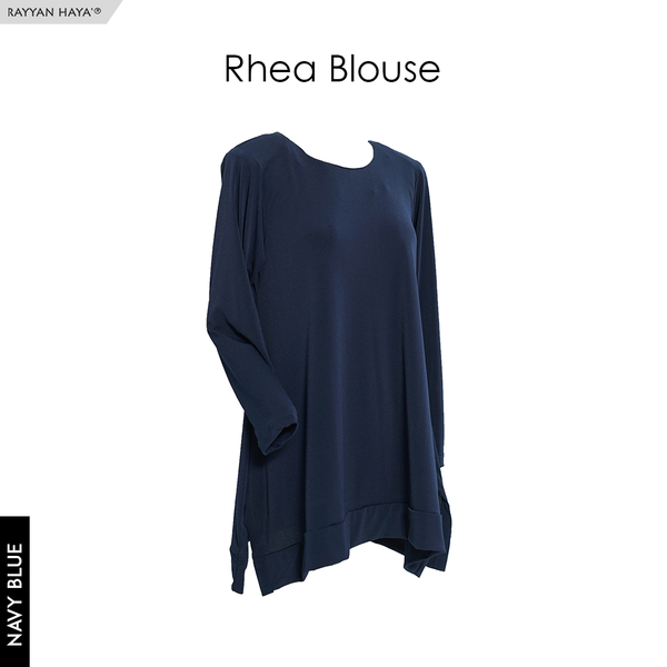 Rhea Blouse (Navy Blue)