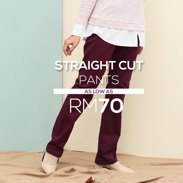 Straight Cut Pants Waistband Malaysia (Purple)