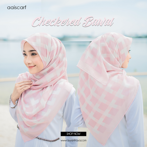 "Bawal Checkered 48"" (Peach)"