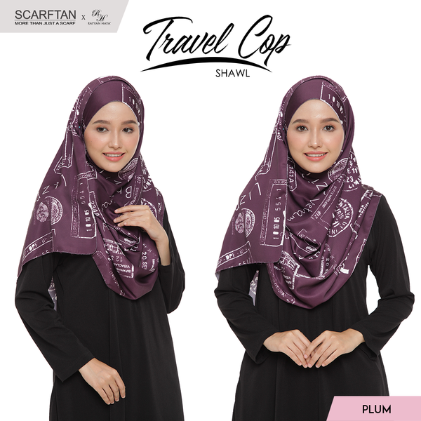 Travel Chop Shawl (Plum)