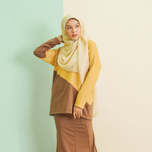 Adeline Top (Brown Yellow)