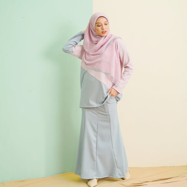 Adeline Suit (Blue Pink)