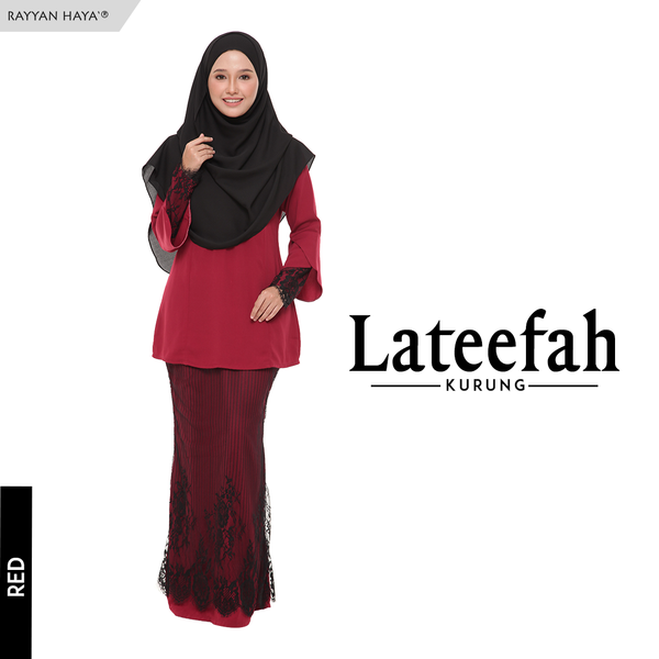 Lateefa Kurung (Red)