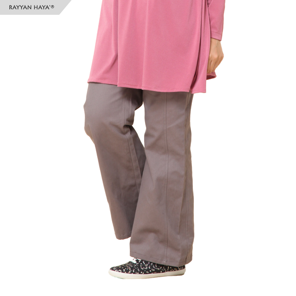 Relaxed Flared Pants (Grey)
