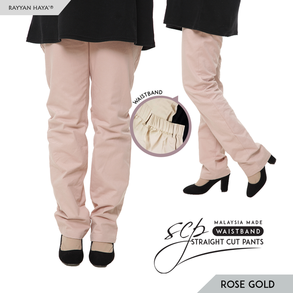 Straight Cut Pants Waistband Malaysia (Rose Gold)