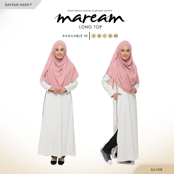 Maream Long Top Cotton T-Shirt (Silver)