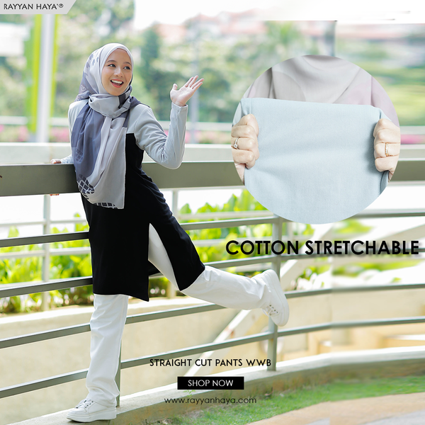 Straight Cut Pants Waistband Malaysia (Grey)