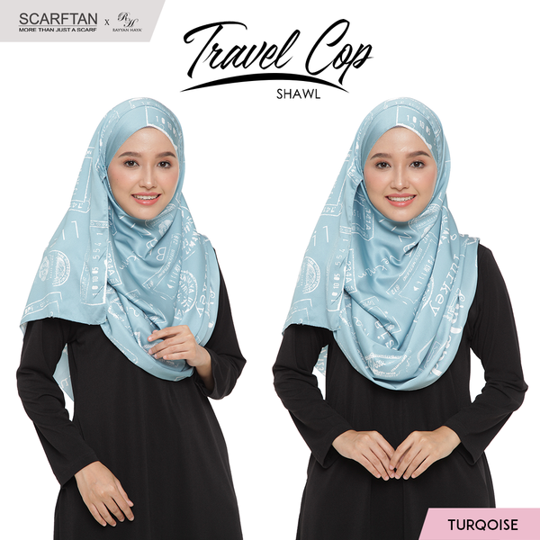 Travel Chop Shawl (Turqoise)