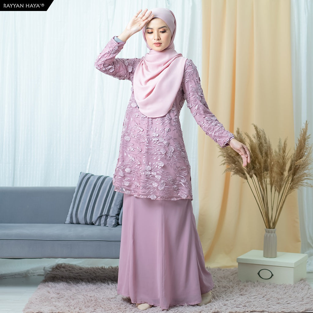 Yuki Kurung (Dusty Purple)