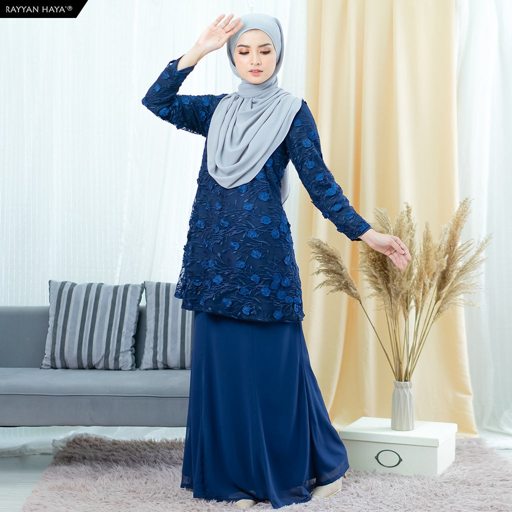 Yuki Kurung (Dark Blue)