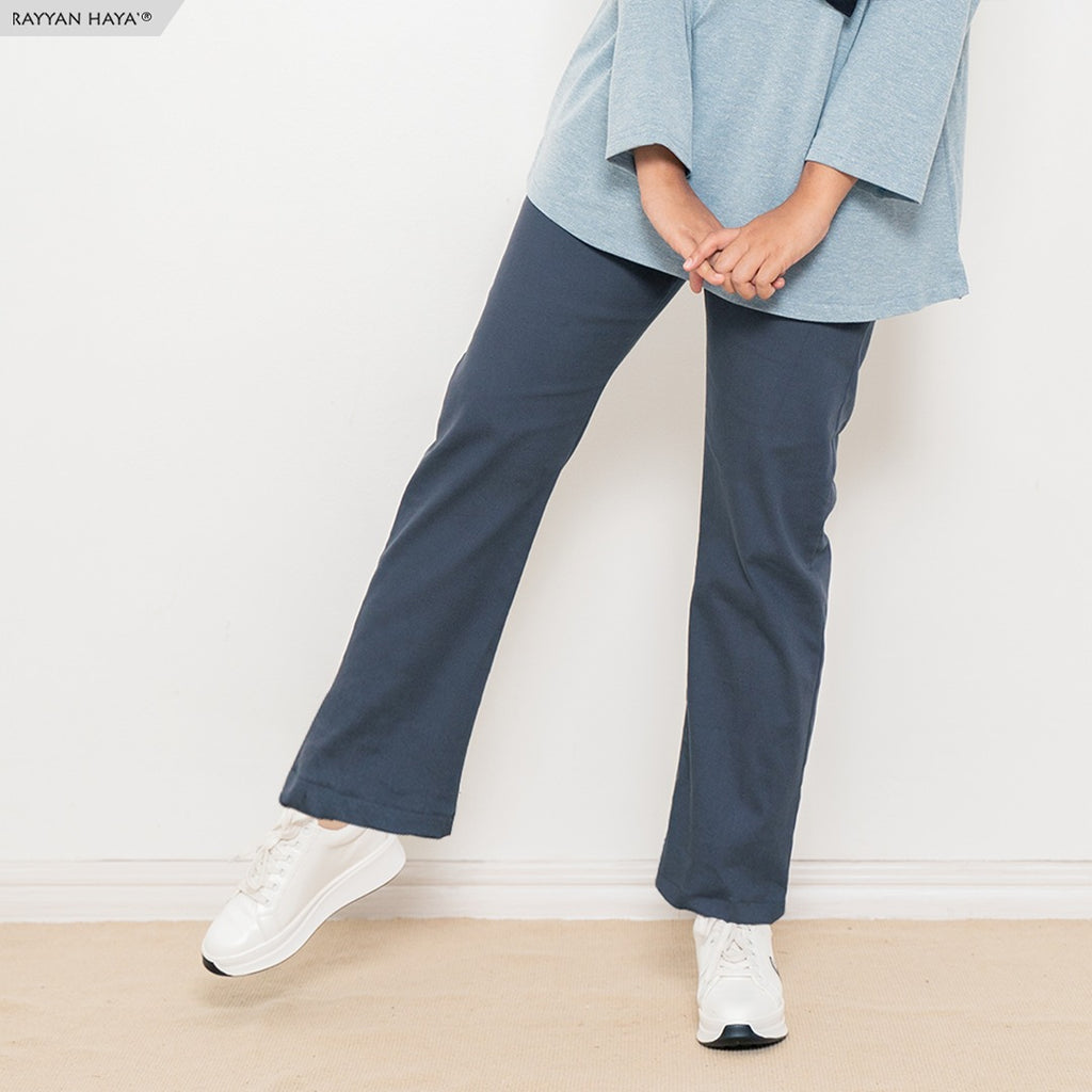 Ankle Loose Pants (Oxford Blue)