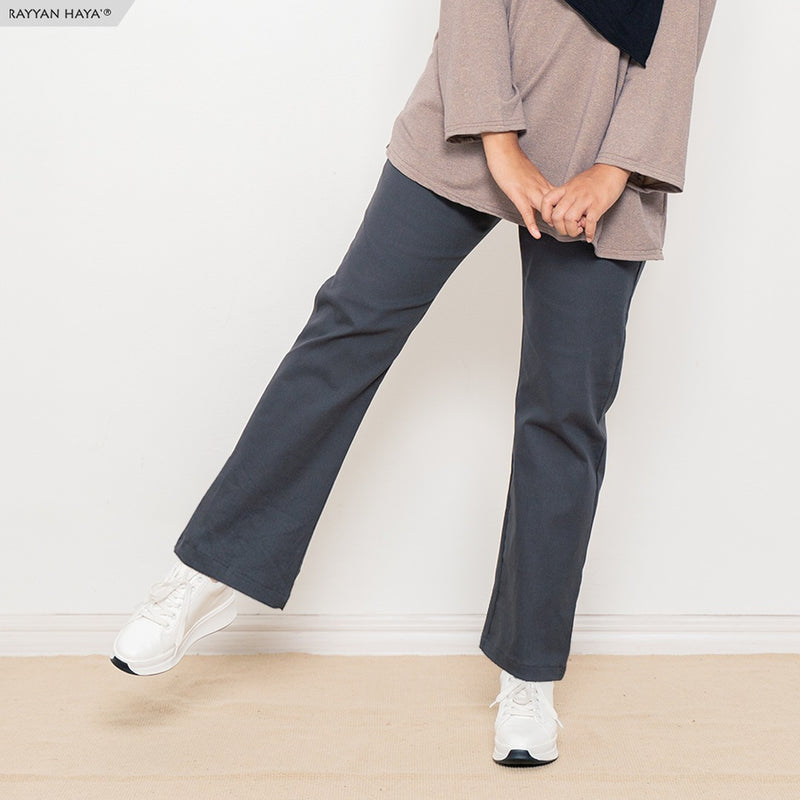 Ankle Loose Pants (Charcoal)