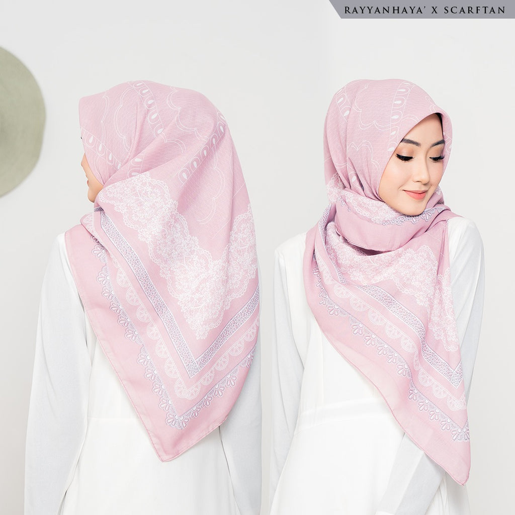 READY STOCK Bawal Lacey 130cm (Pink)