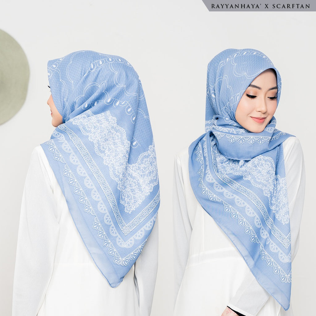 READY STOCK Bawal Lacey 130cm (Sky Blue)
