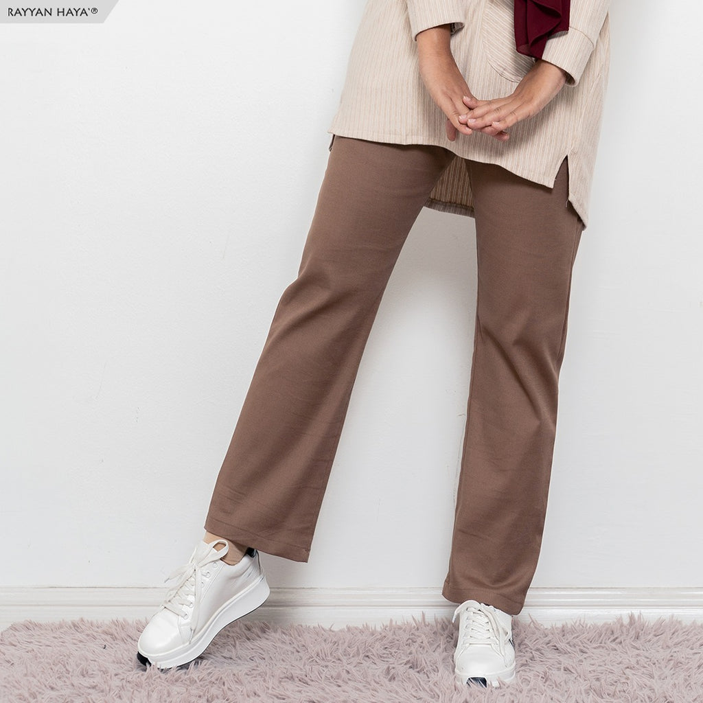 Ankle Loose Pants (Brown)