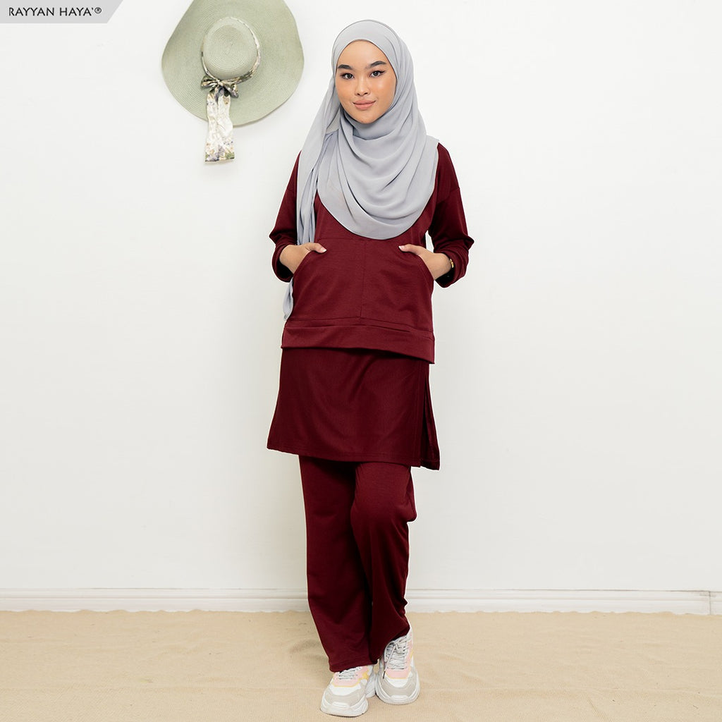 Skirt Pants Set 9.0 (Maroon)