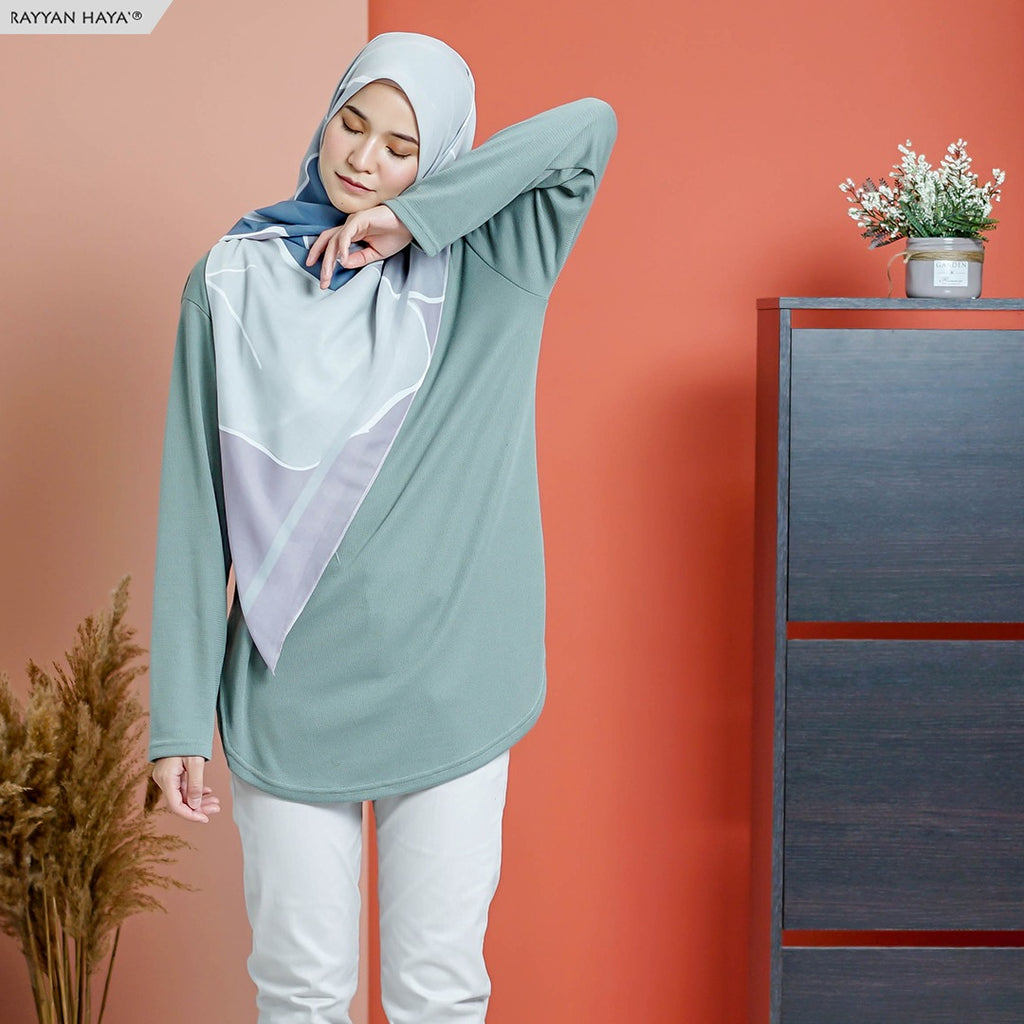 READY STOCK Unnie Top (Teal)