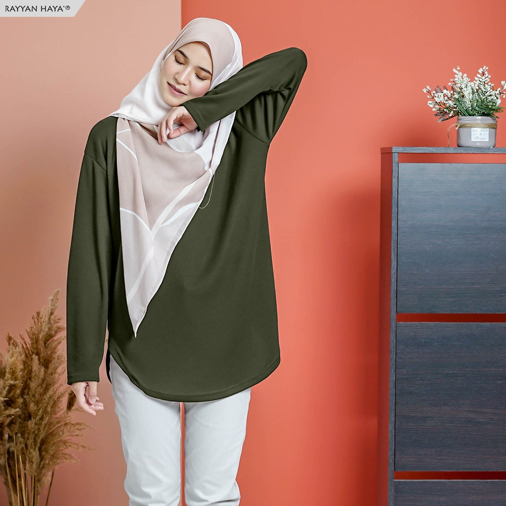 READY STOCK Unnie Top (Olive)