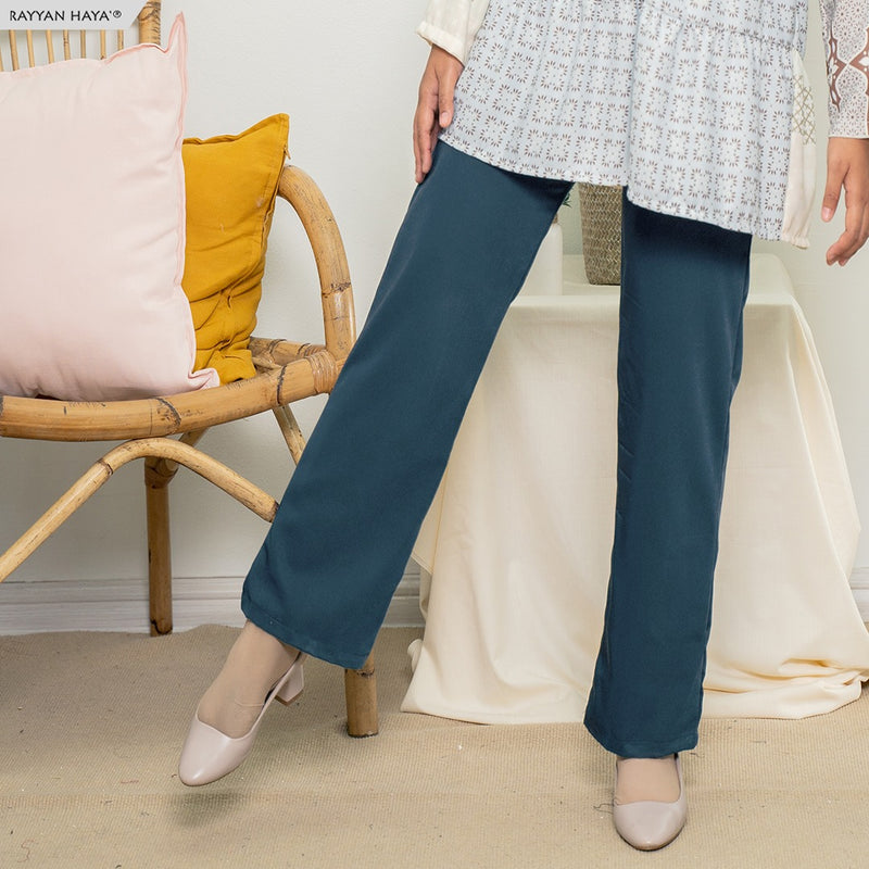 Straight Loose Cut Pants 3.0 (Light Navy)