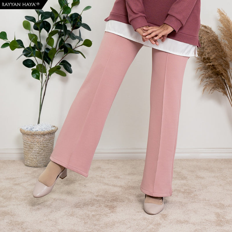 Loose Boot Cut Pants 4.0 (Dusty Pink)