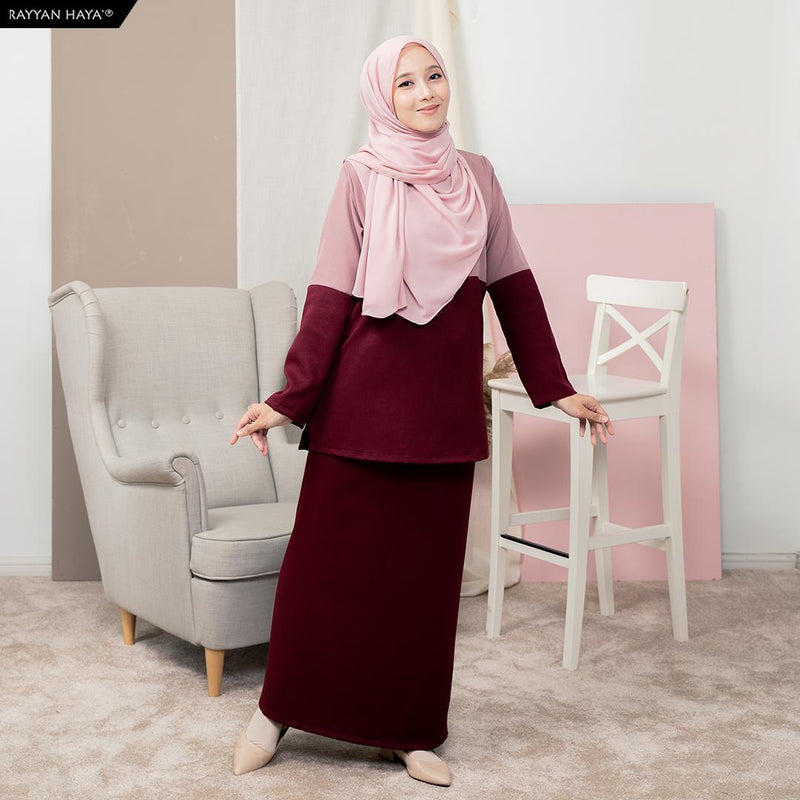 Rauda Set (Dusty Pink Maroon)