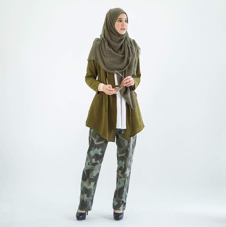 Cardigan With Tie Belts (Olive)