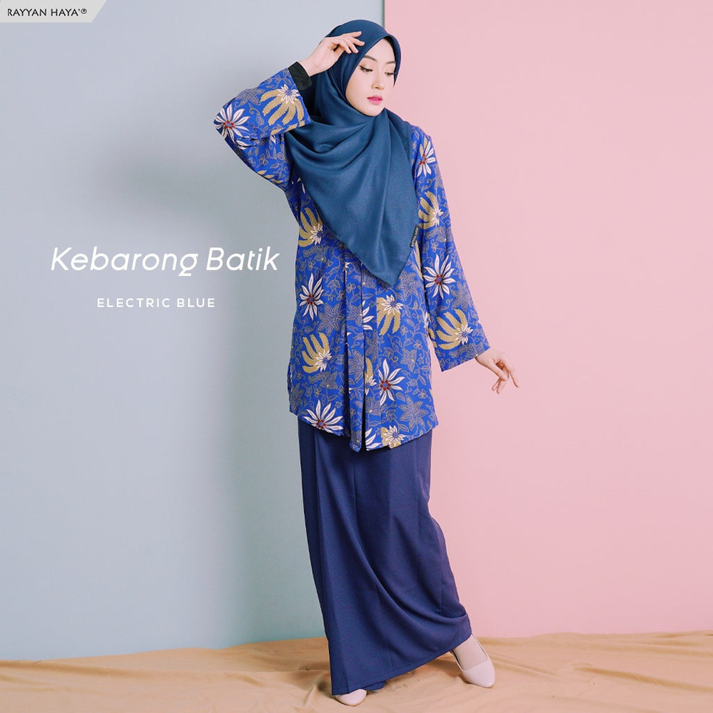 Kebarong Batik (Electric Blue)
