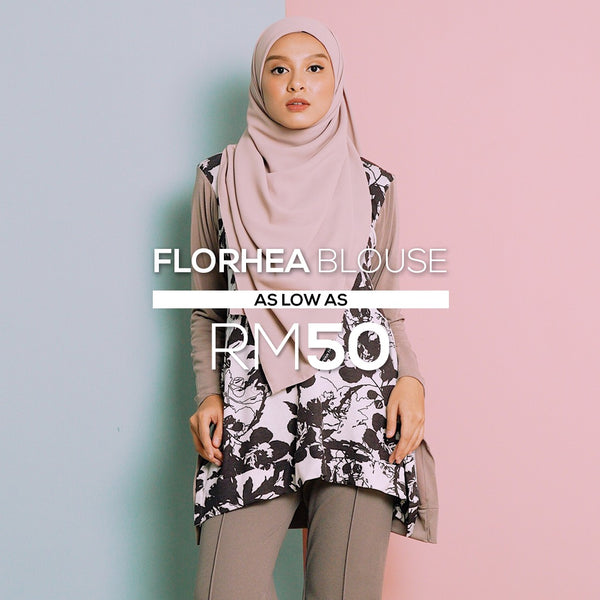 Florhea Blouse (White-Brown)