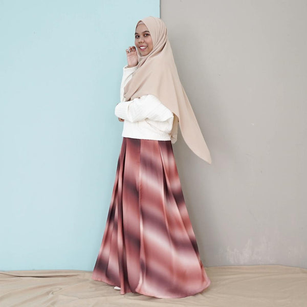 Ombre Skirt (Brown)