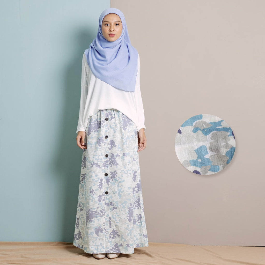 Zhalea Camo Skirt (Light Blue)