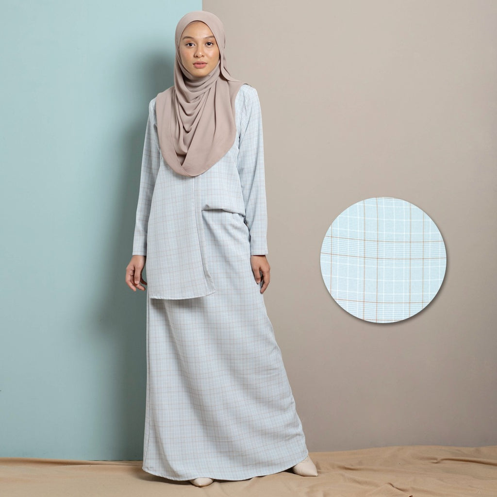Thea Suit Skirt (Powder Blue)
