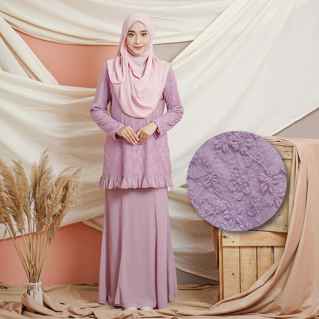 Helena Kurung (Dusty Purple)